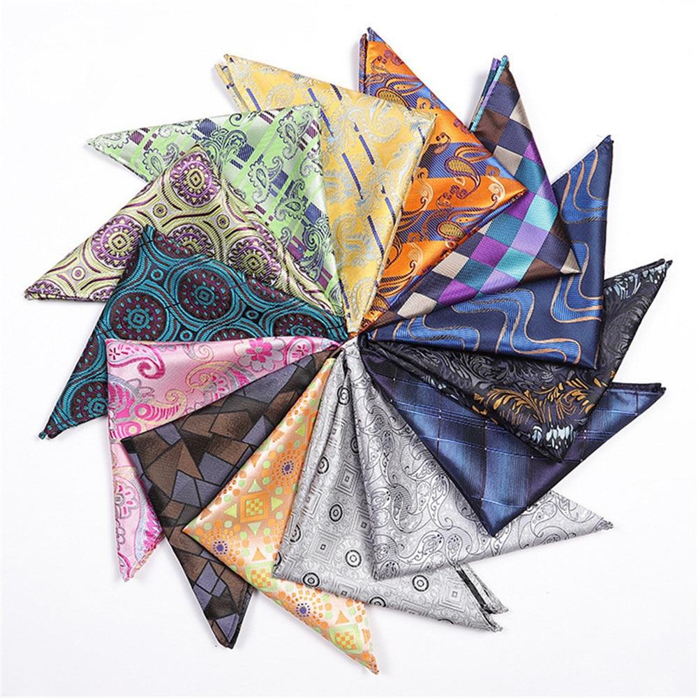 CityRaider Cotton Blue Pocket Squares For Men Silk Handkerchiefs Novelty Paisley Pattern Design Wholesale VIP Link 25*25cm A063