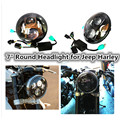 """7"""" LED Projection Headlight Kit Daymaker with DOT on the lens for Jeeep harley Davidso Motorcycle Replace H6024 and PAR56"""