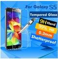 Real del teléfono móvil de vidrio templado para samsung galaxy s5 para 2015 a3 5 7 8 S NOTA 3 4 S5 6 i9600 Protector de Pantalla Frontal Reforzado