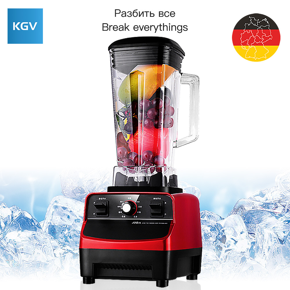 KGV blender Desktop electric mixer food smoothie multifunction juicer vegetable fruit Ground meat Household food processor High bpa 3 speed heavy duty commercial grade juicer fruit blender mixer 2200w 2l professional smoothies food mixer fruit processor