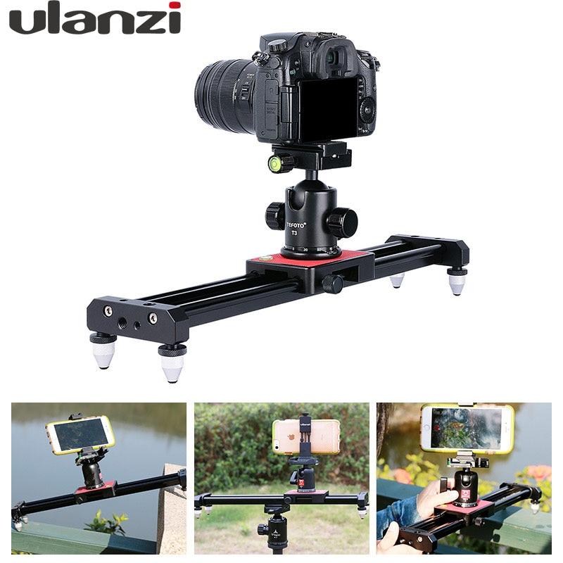 Ulanzi Piortable Camera Track Dolly Slider Video Stabilizer Rail System for Nikon Canon DSLR for Youtube