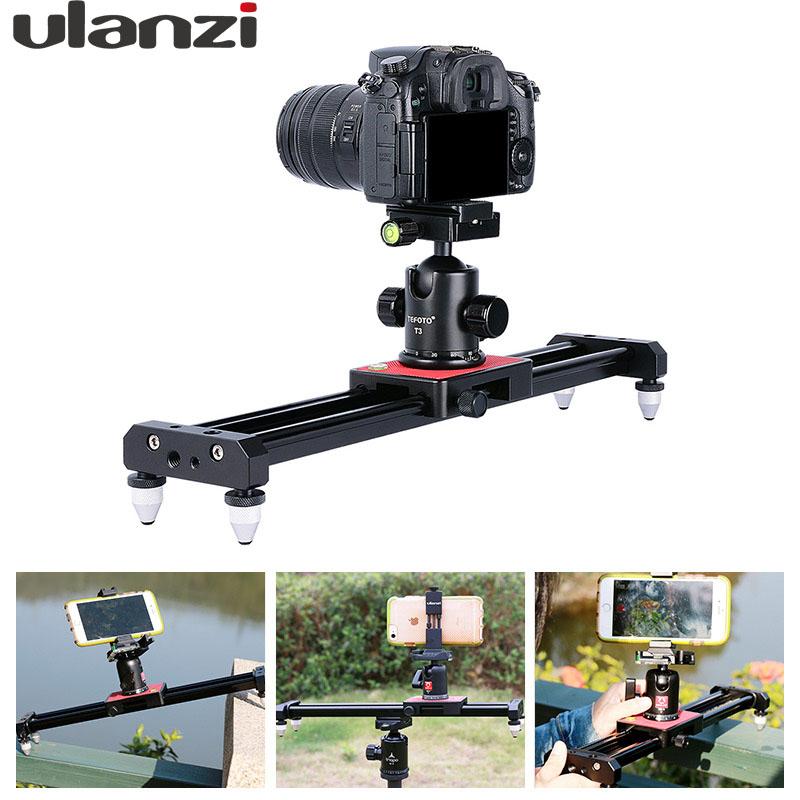 Prix pour Ulanzi piortable caméra piste dolly curseur vidéo stabilisateur système ferroviaire pour nikon canon dslr pour youtube blog photographie film