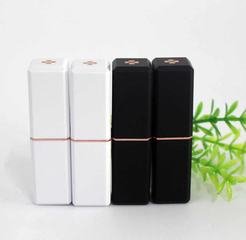 Plastik persegi lipstik tube 12.1 cangkir ukuran hitam/putih kosong lip rouge tabung kemasan