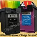 2PK 121 121XL BlACK & COLOR INK for HP 121 121XL CC641HE CC644HE Deskjet D2563 F2483 F4283 F4583 C4683 e110 INK