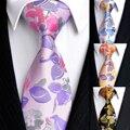 2016 New Mens Tie pattern multicolor silk tie business casual wedding gift box tie