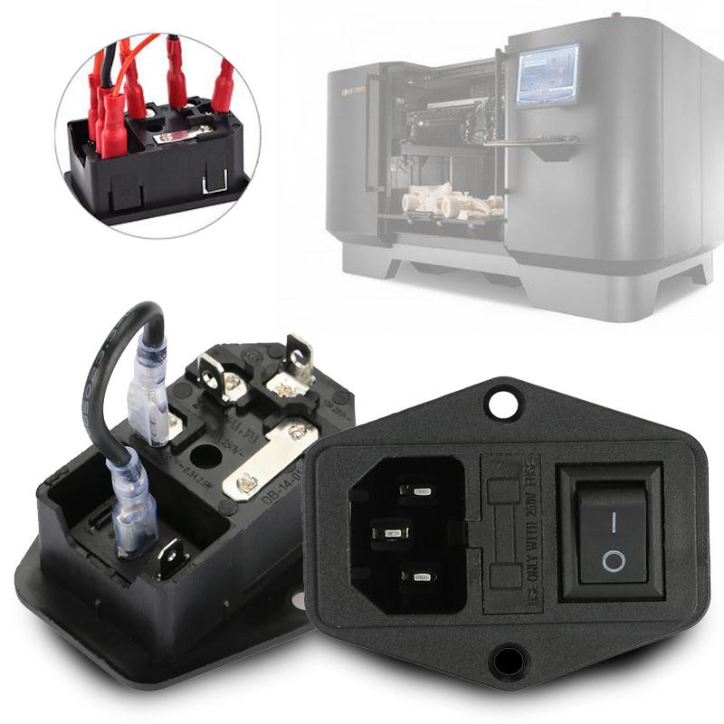 Eco-Friendly <font><b>Fuse</b></font> Home 3 in 1 Module Power Supply Socket <font><b>220V</b></font>/110V Office <font><b>10A</b></font> Adapter Practical for 3D Printers image