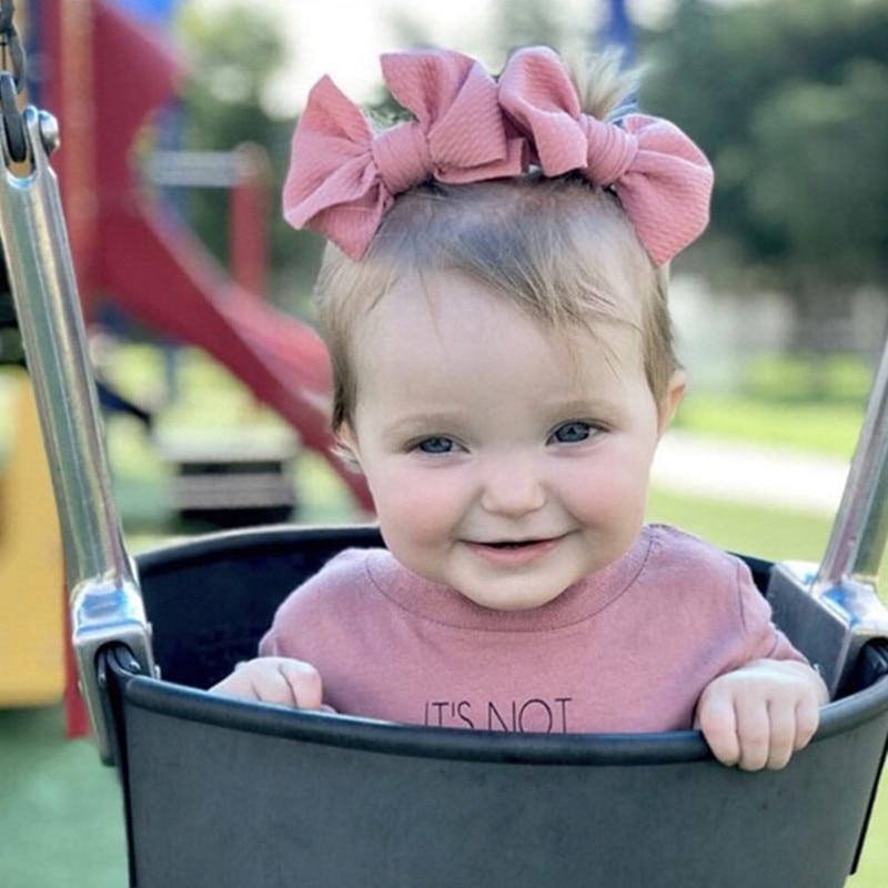 2pcs/Lot 5'Baby Girl Fabric Messy Bow Headband +Newborn Large Bow Hair Clip Headwrap Infant Bebes Hair Bows Turban Bowknot Tie