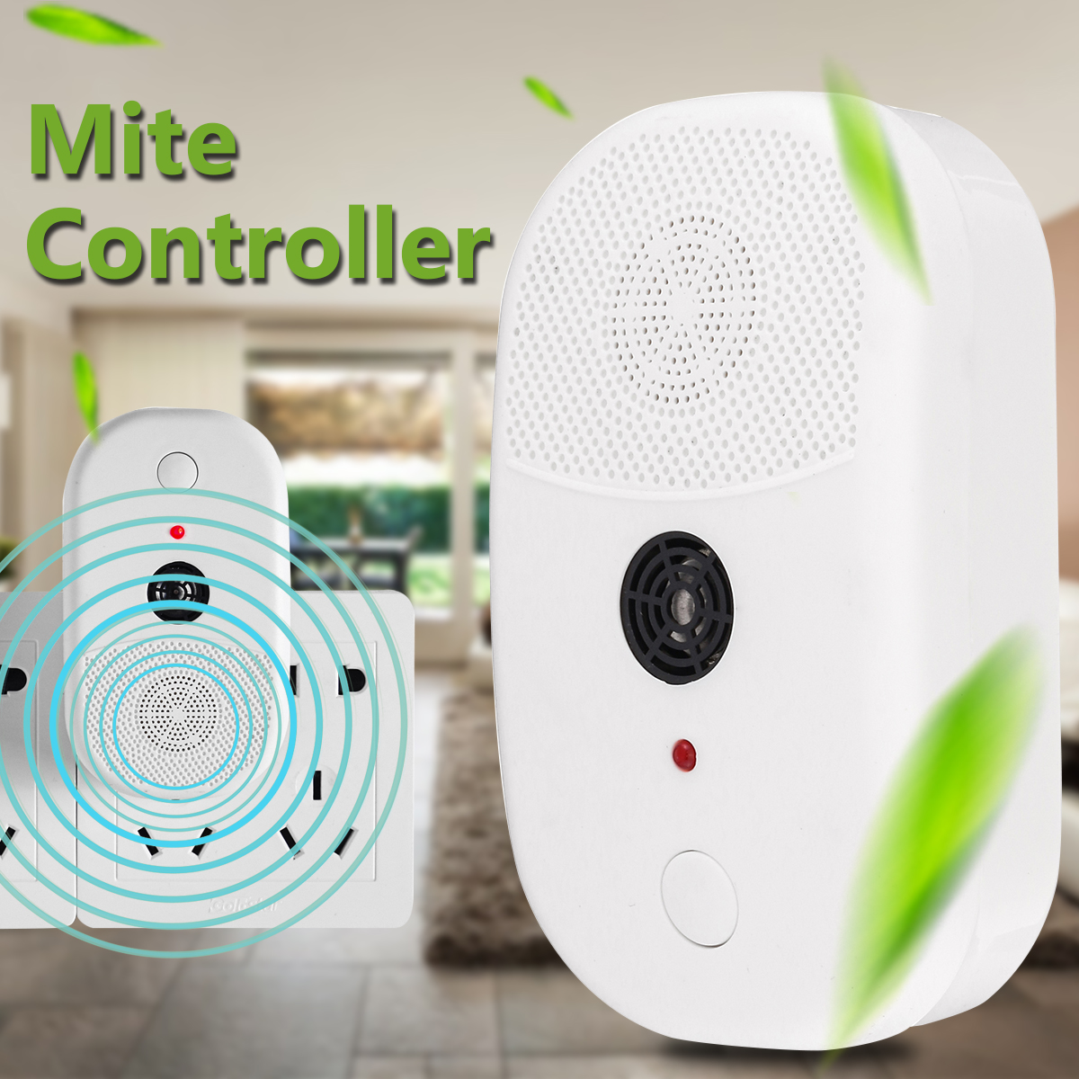 Mini Portable Ultrasonic Wave Mite Killer Household Electric Mite Killing Controller Bed Bug Dust Mite Cleaner Repeller Tool ao 149 portable plastic ultrasonic wave mosquito repeller black