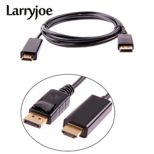 Larryjoe 1.8M / 6FT 3M 10FT DisplayPort Display Port DP Male to HDMI Male M/M Cable Adapter for MacBook Air Dell Monitor