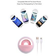 Или Все виды Телефон Аккумуляторная USB Зарядка с зарядки аккумулятора Selfie Портативный Кольцо LED Заполняющий Свет Камера