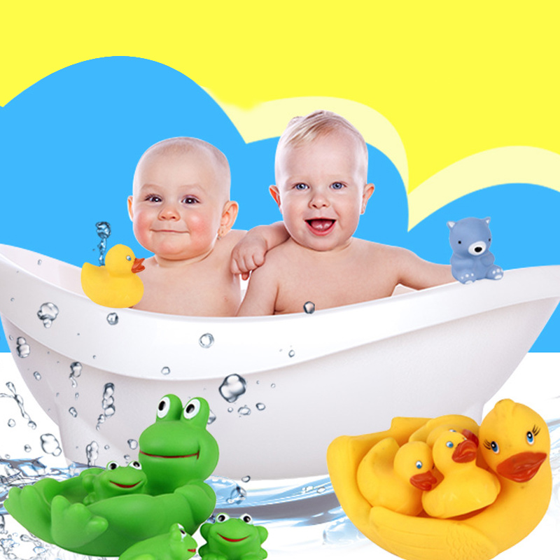 4pcs Floating Bath Play Set Kids Fun Water Bathtub Toys Non Toxic Playing Kit Tub Pool Beach Toy 88 AN88
