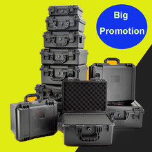 high quality Plastic alloy Waterproof Tool Box Sealed case Equipment Tool case Impact Resistant Shockproof with pre-cut Foam стоимость