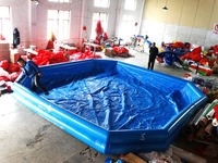 Large Inflatable Round Water Game Swimming Pools Park For Child Air Pump