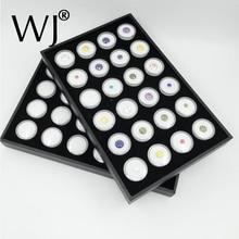 24 White Gem Jar Foam Insert Tray Jewelry Display Organizer Gemstones Storage Case Loose Diamond