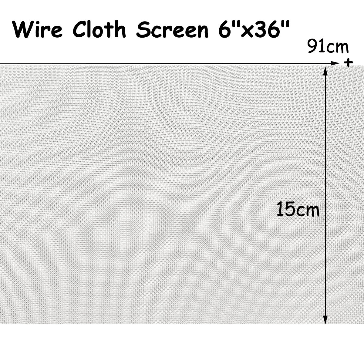 NEW 15x91cm Woven Wire Cloth Screen Stainless Steel 304 30 Mesh Filter 6x36 new stainless steel 304 mesh 4 047 wire cloth screen filter 16 x16 40cm x 40cm