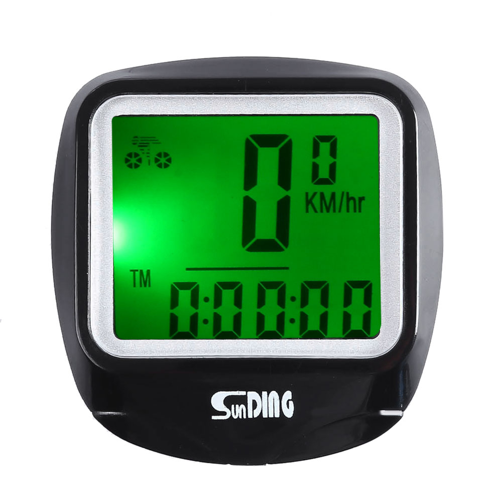 SunDing SD - 568AE Bike Computer Outdoor Water Resistant Bicycle Computer Cycling Odometer Speedometer with LCD Backlight 1 lcd water resistant bike computer odometer speedometer black red 1 x cr2032