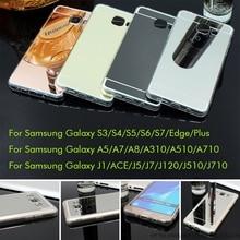Plating Mirror Soft TPU Back Cover For Samsung Galaxy A5 A7 A8 A310 A510 2016 J1