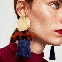 New Trendy Vintage Bohemian Tassel Long Drop Dangle Earrings Fashion Fringe Earrings For Women Pendientes Brincos