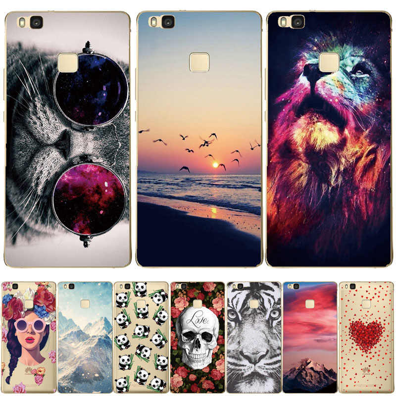 THREE-DIAO For Huawei P9 Lite Case Cover Soft Silicone Phone P9 Lite 2016 Case TPU Back Protective Case FOR Huawei P9 Lite Coque