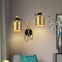 Schorsing armatuur Eenvoudige Moderne Woonkamer Slaapkamer lamparas led Wall Light Continental Gangpad Deco Wandlamp wandlamp-in LED Indoor Wandlampen van Licht & verlichting op
