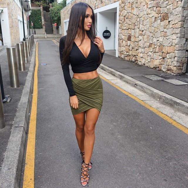 Women in sexy short skirts