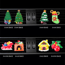 Christmas style Car Air Freshener perfume Automobile Interior Perfume Clip Fragrance Decoration Ornaments Accessories