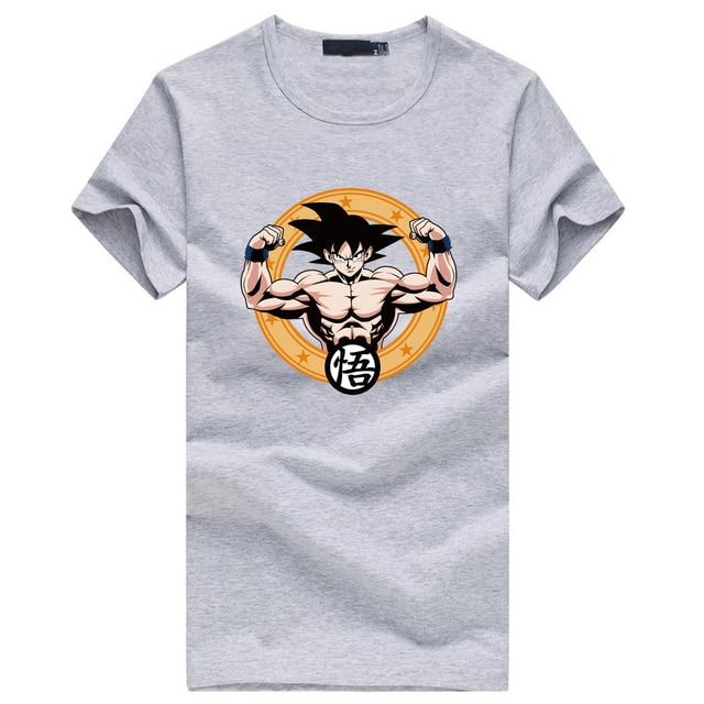 dragon ball Master Roshi Beat Goku T-shirts Men Fashion Crossfit Harajuku Clothing 2017 The Dragon Ball Z T Shirt Short Sleeve