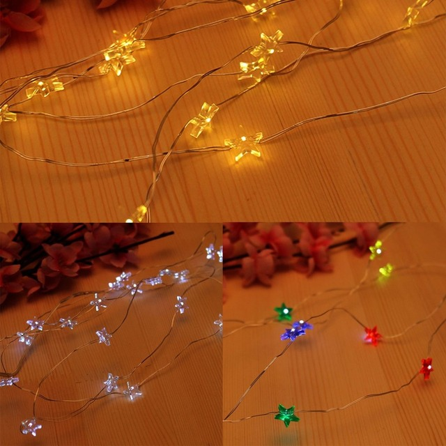 2m 20 Led Star String Lights Waterproof Battery Operated Small Nightlight Decor Fairy Light For Home Wedding Party Drop Ship