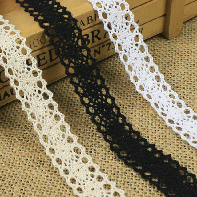 Cotton Lace Trim Black White Beige Handmade Craft DIY Lace Ribbon For Shoes Hat Tablecloth Pillow & Aliexpress.com : Buy Cotton Lace Trim Black White Beige Handmade ... pillowsntoast.com