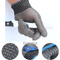 1 Pair 2pcs Working Safety Gloves Cut Resistant Protective Stainless Steel Wire Metal Mesh Butcher Anti
