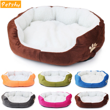 Petshy Super Cute Soft Cat Bed Winter House for Warm Cotton Dog Pet Products Mini Puppy Comfortable Cushion