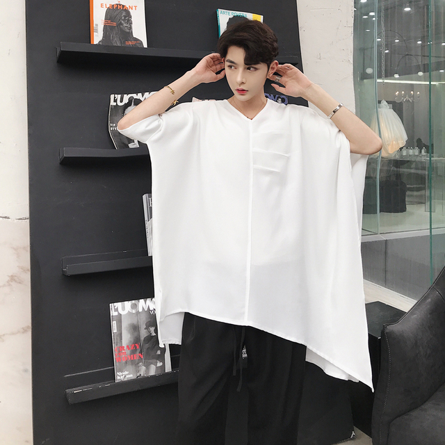 Mixcubic 2018 Summer Korean Style Cool Solid Color Asymmetric Design