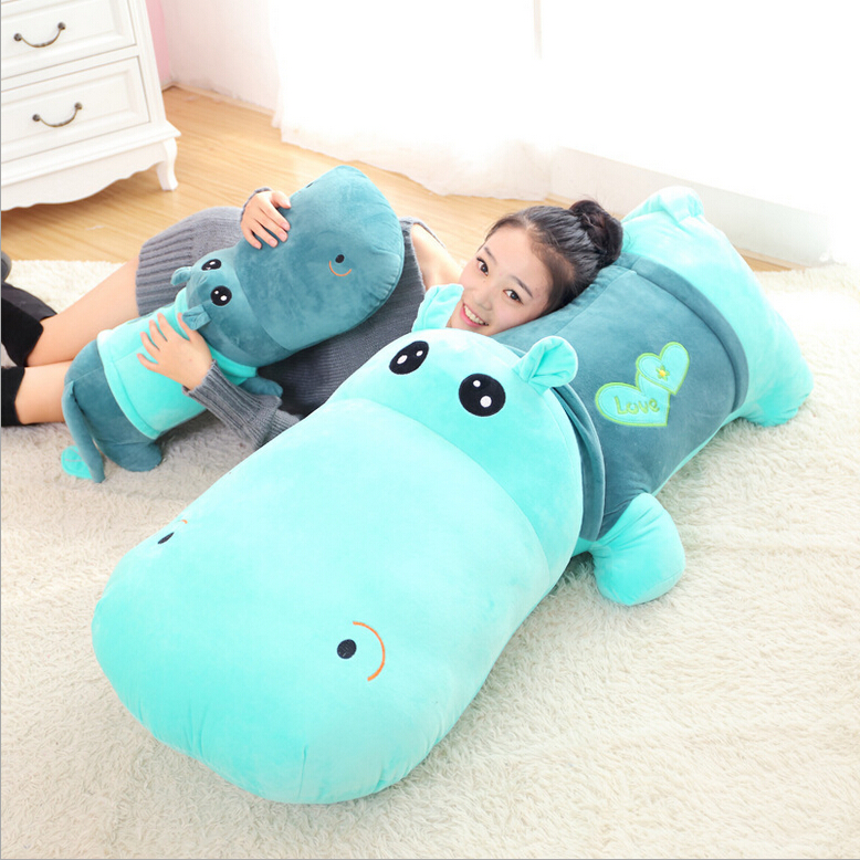 1pcs 35cm 45cm cute plush toy stuffed animal hippo doll cloth sleeping pillow ragdoll birthday gift