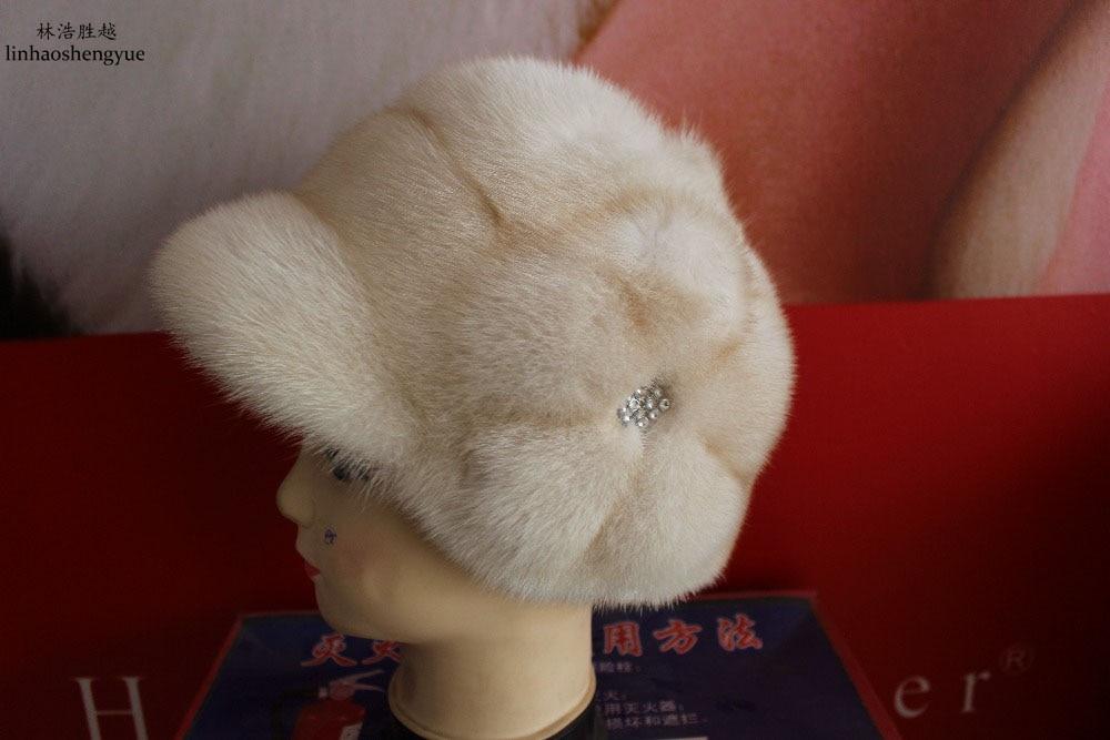 Linhaoshengyue Mink Fur Cap Winter   Free Shopping