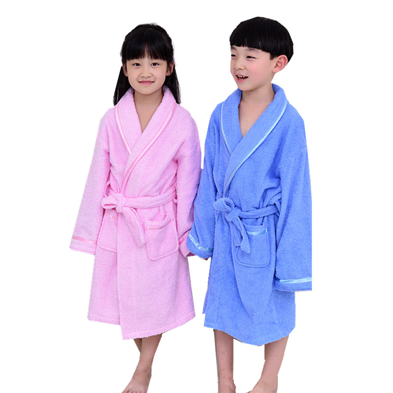 Mother & Kids Terry Towel Children Robe Bathrobe Kids Long Robes For Boys Girls Pink Blue Robes Spa Party Bath Robes Belt Bathgowns Unequal In Performance