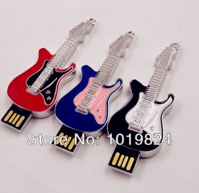 100% real capacity Jewelry Crystal Small Guitar Shape USB Flash Drive Jewelry Crystal 4GB 8GB 16GB 32GB 64GB Gift souvenir S253
