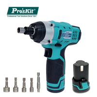 Pro'skit Handheld 12V Lithium Electric Drill Screwdriver Set For Water Electricity Mechanical Maintenance Repairing Tools Kit
