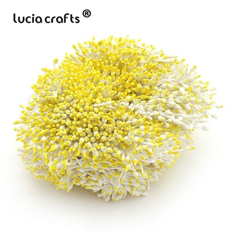288 шт 60 мм разноцветные варианты наконечник пестик тычинка цветок тычинка украшения торта двойная головка тычинки D0501