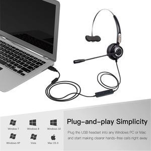 Image 5 - VoiceJoy אוזניות עם מיקרופון USB תקע אוזניות עבור מחשב ומחשב שליטה על עוצמת קול ומתג השתקה