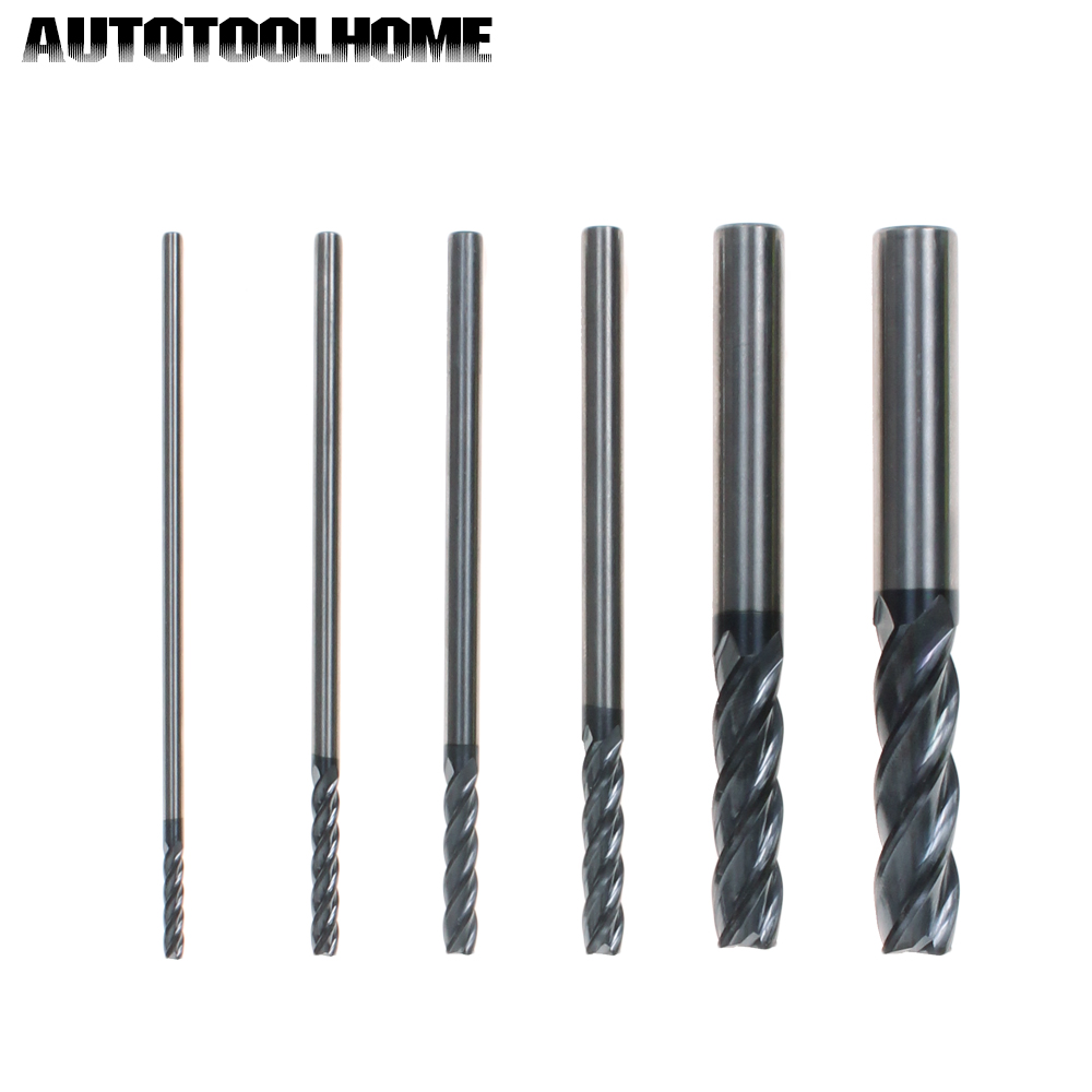 1PC 4 Flute 3 4 5 6 10 12mm Tungsten Milling Cutter End Mill Bit for Steel Alloy CNC HRC45 100mm Length Extended Rod 3 175 12 0 5 40l one flute spiral taper cutter cnc engraving tools one flute spiral bit taper bits