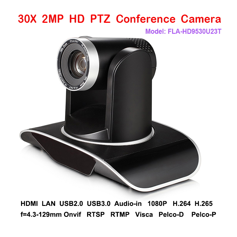 2MP 30x Optical Zoom PTZ IP Streaming Skype Conference Camera with Simultaneous HDMI and USB Outputs 2mp 1080p60 50 ptz ip streaming onvif poe camera visca pelco 20x optical zoom tripod with simultaneous hdmi and 3g sdi outputs