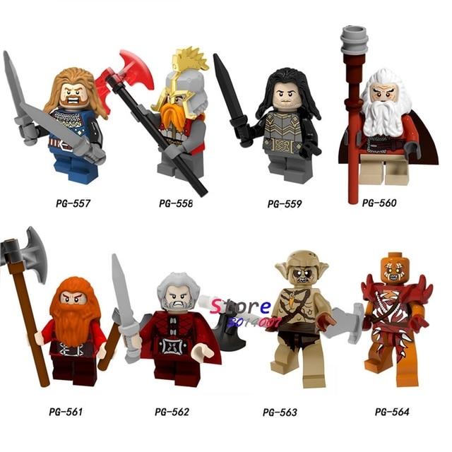 Único Modelo building blocks The Lord Of the Rings Philip Ferro pé Dan Kellett Ouyin Duoli Gandalf Saruman tijolos brinquedos