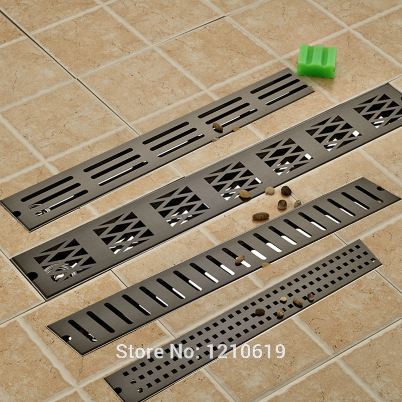 Modern 90*10 cm Oil Rubbed Bronze Style Deodorization Grate Waste Floor Drain Floor Mounted modern 90 10 cm oil rubbed bronze style deodorization grate waste floor drain floor mounted