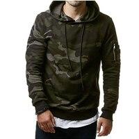 Hoodies Men Autumn 2017 Men Military Camouflage Sweatshirt Pullover Casual Hip Hop Hoodies Sweatshirts Plus Velvet