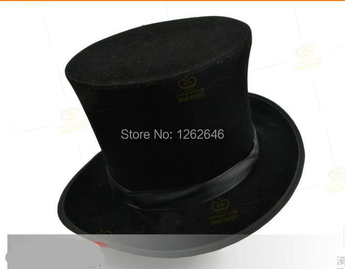 Free shipping! Folding Top Hat - black, stage Magic Tricks/Props,Accessories,illusions,close-up,comedy marumi mc close up 1 55mm
