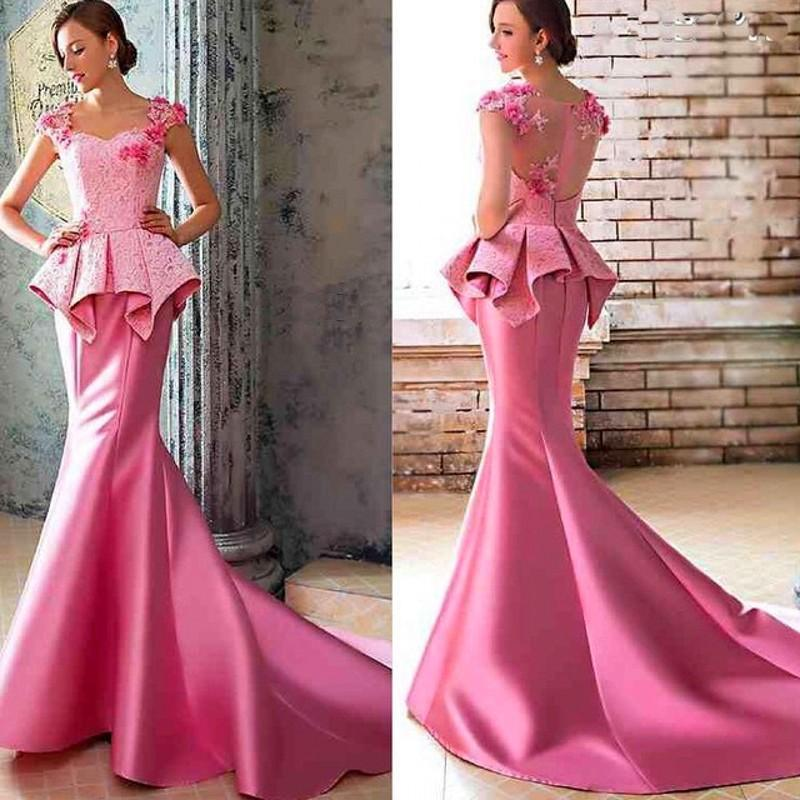 Popular Hot Pink Mermaid Dress-Buy Cheap Hot Pink Mermaid Dress ...