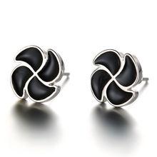 100% Стерлинговое Серебро 925 пробы модные серьги гвоздики с