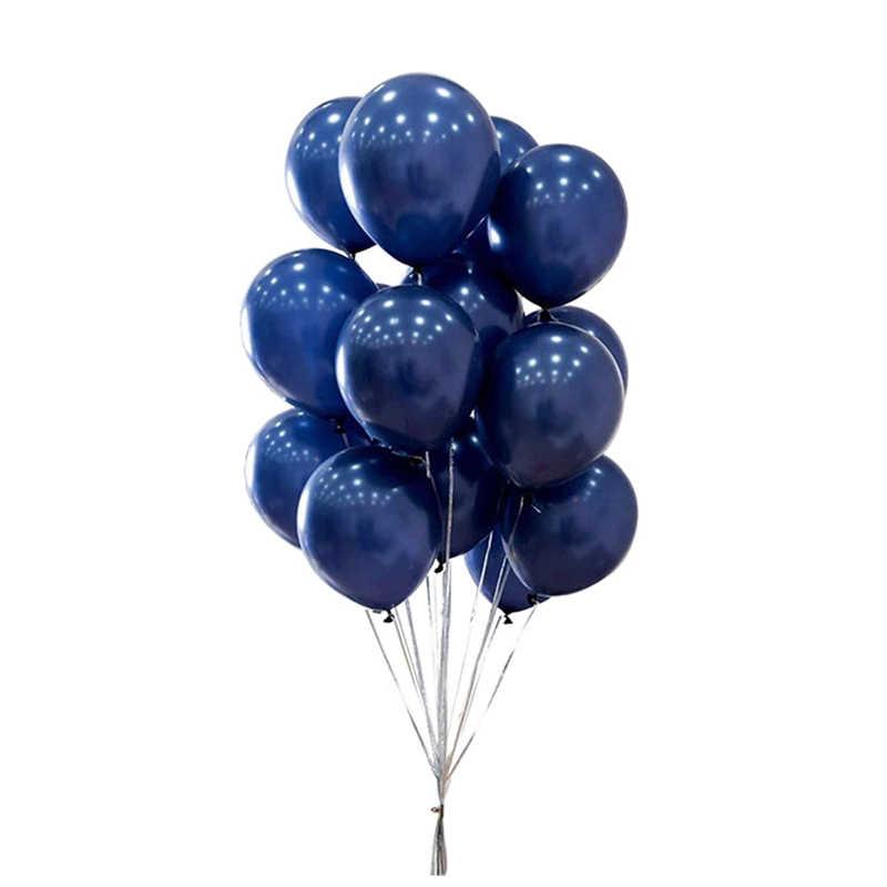 10 pcs น้ำเงินลูกโป่ง Confetti ชุด 12 นิ้ว Chrome Gold Confetti Air Balls งานแต่งงาน Baby Shower Birthday Party ตกแต่ง