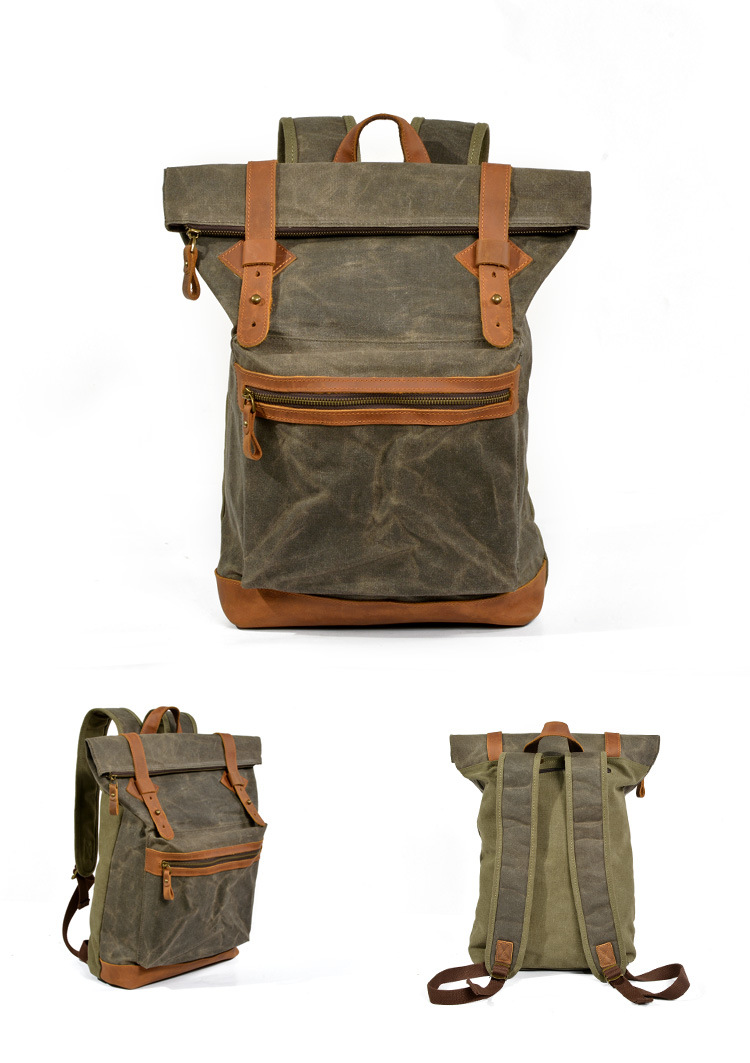 green WAXED CANVAS BAG
