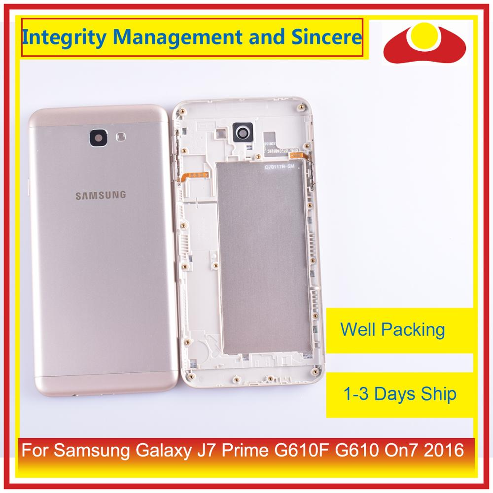 Image 5 - 10Pcs/lot For Samsung Galaxy J7 Prime G610F G610 On7 2016 Housing Battery Door Frame Back Cover Case Chassis Shell-in Mobile Phone Housings & Frames from Cellphones & Telecommunications
